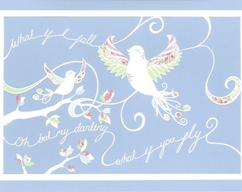 What if You Fly - Papercut print, A3, Nursery Artwork