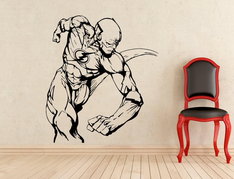 flash stickers superhero wall vinyl decals home interior
