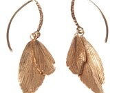 RAVEN Earrings (Red Gold Plated Silver)
