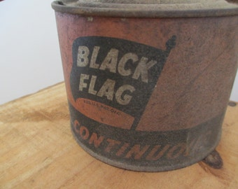 black flag bug sprayer fogger old farmhouse