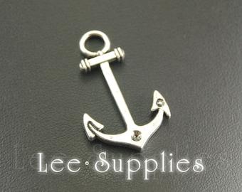 10pcs Antique Silver Alloy Anchor Charms Pendant A874