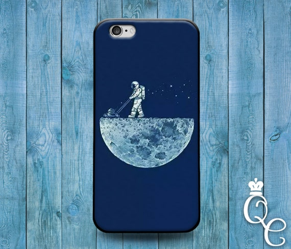 iPhone 4 4s 5 5s 5c SE 6 6s 7 plus iPod Touch 4th 5th 6th Gen Custom Cool Phone Cover Blue Astronaut Lawn Moon Funny Case Space Astronomy