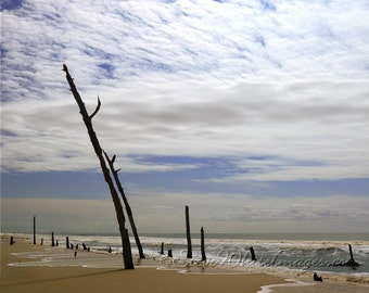 Eileen Is minimalistic fine art photography of solitude on a barrier island beach. Coastal art by Steve White