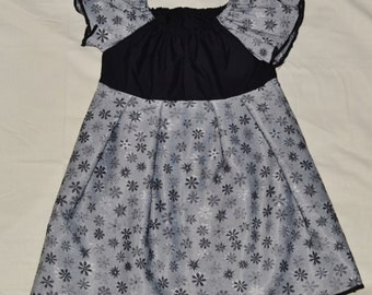 Size 4 Black and Grey Floral Childrens dress