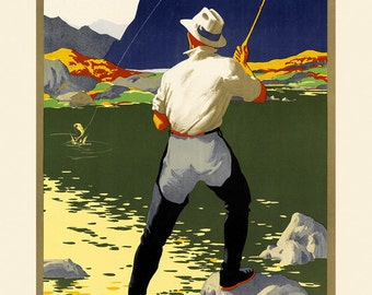 Colorado Fishing American Sport Vintage Poster Repro FREE SHIPPING in USA