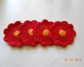SALE  Flower coasters