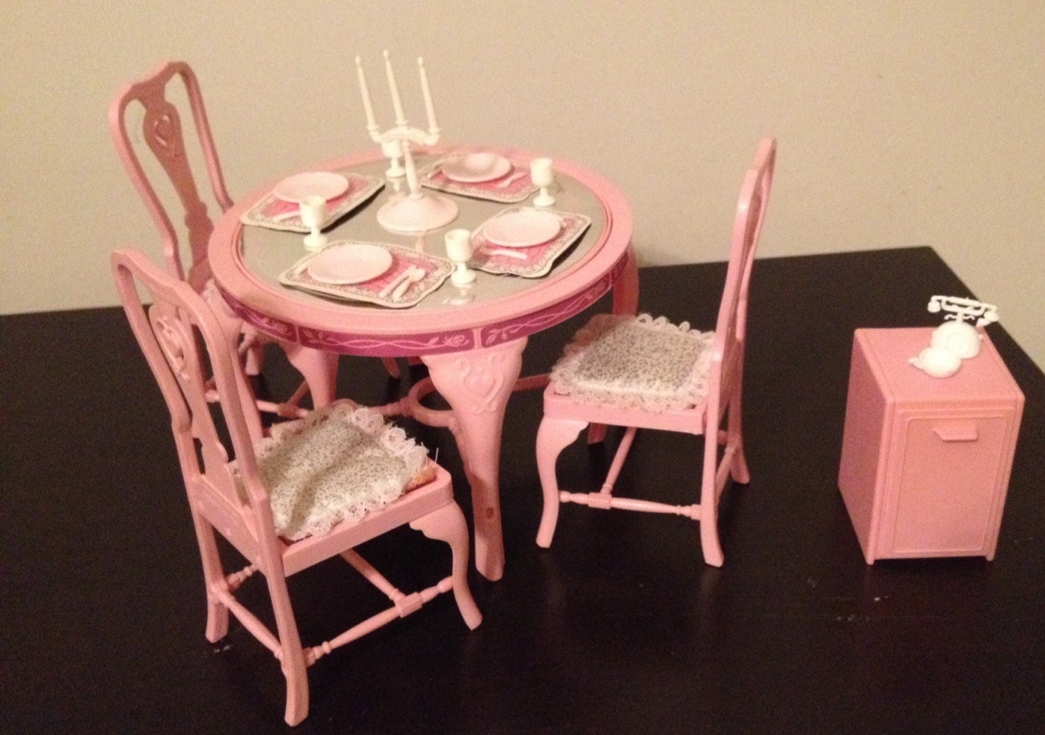 Barbie Furniture dining room table and chairs : ilfullxfull812288072m4y0 from www.etsy.com size 1500 x 1055 jpeg 277kB