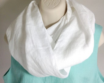 100% Linen Infinity Scarf or Prayer Covering for the Messianic Israelite Woman - Neah Scarf
