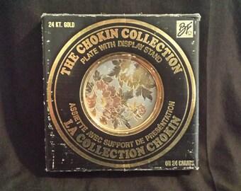 chokin plate 24kt gold gilt
