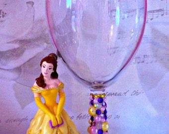 Disney Belle Wine Glass