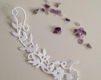 Lovely flower flourish die cuts