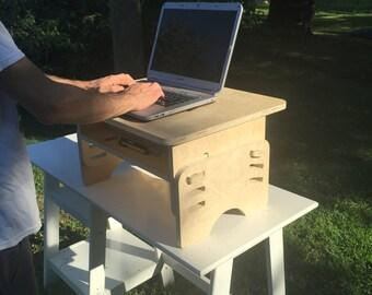 Adjustable standing desk add on
