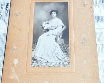Vintage Cabinet Card Woman Photograph 1910