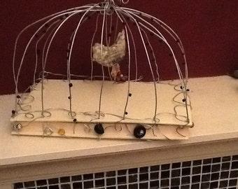 Altered book birdcage