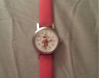 1970's  Minnie Mouse Swiss made watch
