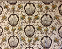 Kravet Pierre Deux French Country Medallions Toile Fabric ( cream, brown, multi ) Custom Made Roman Shade