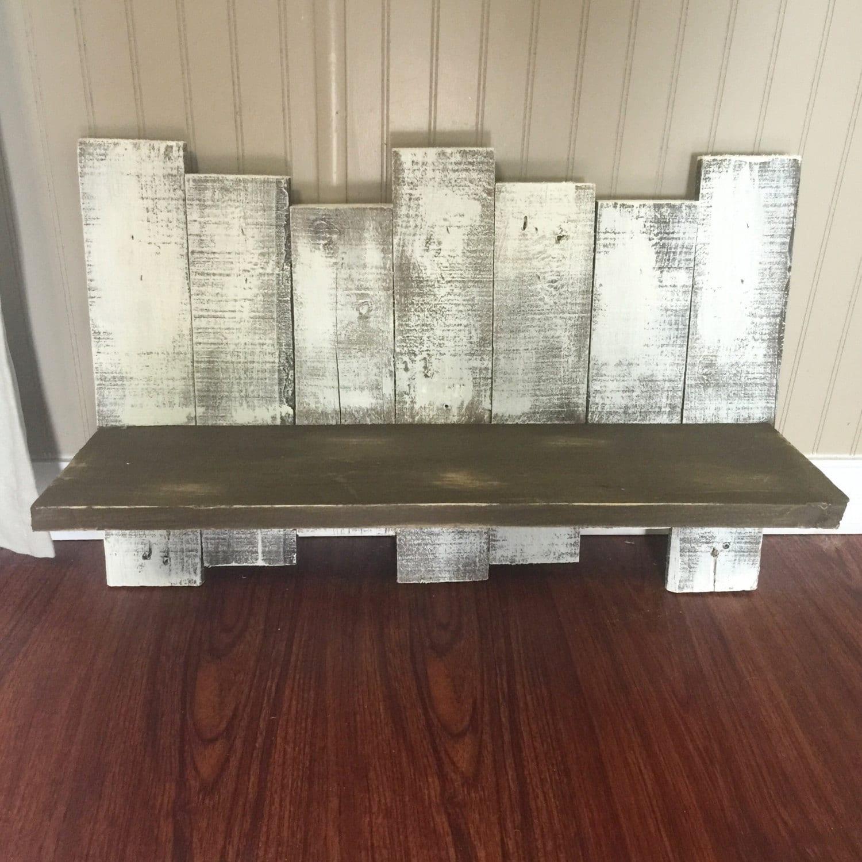 Brown pallet shelf pallet decor pallet display for Pallet floating shelves