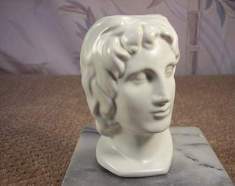 Greek Roman Head after shave Decanter