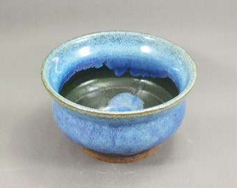 Pottery Bowl Rutile Blue - Green To Black ChunGTB38