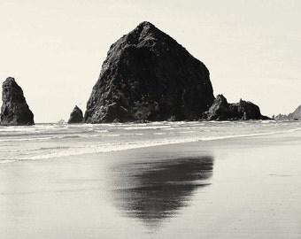 Black and White--Oregon Coast-- Haystack-- Cannon Beach