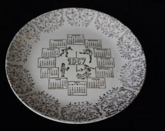 1967 Calendar Plate