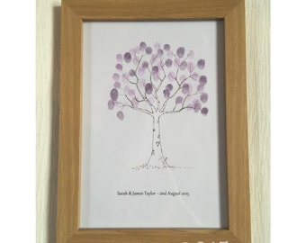 Personalised Thumbprint Frame, family thumprint frame, wedding thumbprint frame, babyshower, birthday personalised frame, ink frame