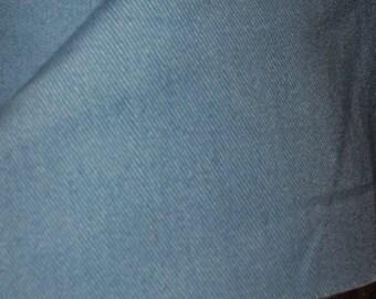 20-Yard Bolt of Radiant Turquoise Denim Upholstery Fabric
