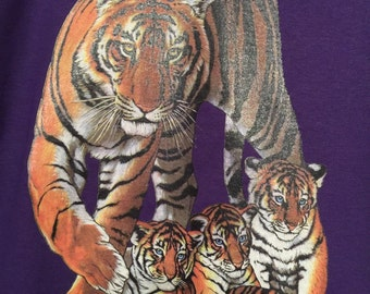 Printed t's with Tiger & cubs