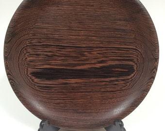 Wenge wood platter