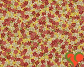 Asian Oriental Fabric. Screen Print D #1293 by Robert Kaufman. Half Yard. Out of Print (O2O).
