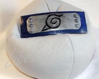 Naruto hair clip with konoha symbol