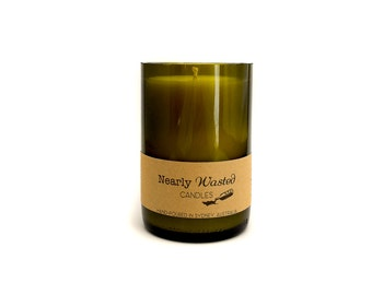 In the Mountains - Nearly Wasted Candles - Upcycled Wine Bottle - Soy Wax Candle