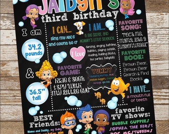 Bubble Guppies Birthday Poster