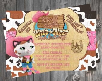Sheriff Callie Invitation