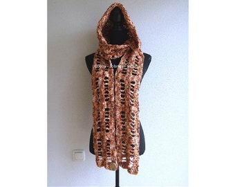 Xyra PATR0971-crochet pattern scoodie hood scarf-with-hoodie-(Dutch & English-US)