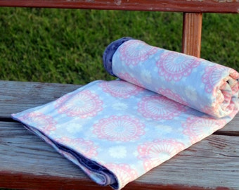 Soft Coral Minky Blanket