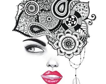 Eye See You Jungle Head Lady