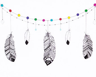 Hanging Feather