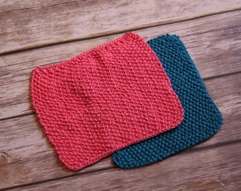 Hand knitted ~ face cloths ~ wash cloths ~ dish cloths ~ spa cloths ~ reusable baby wipes ~ 100% cotton