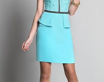 677 Dress. Fabrics for dresses, embroidery on organza.  Elegant dress,  festive dress, evening dress