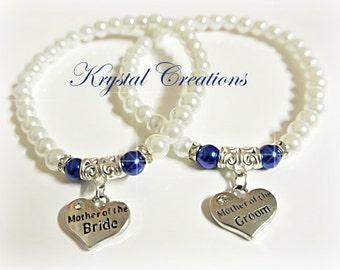 Mother of the Bride/Groom bracelet set Mother of the BRIDE Mother of the GROOM Bracelet SET