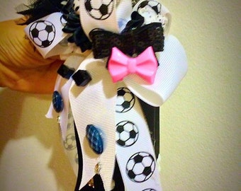 Soccer Super Star Hair Bow