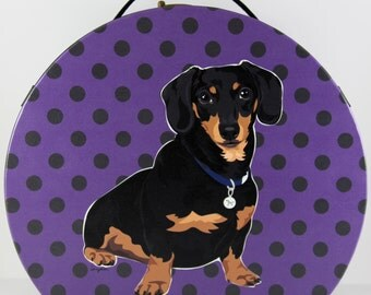 Dachshund Round Bag (Small)