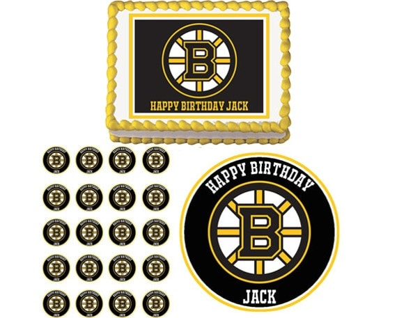 Boston Bruins Edible Birthday Party Cake By