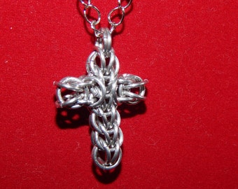 Persian Chainmaille cross pendant