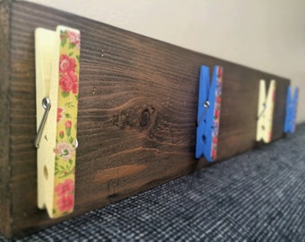Floral Clothespin Wall Display