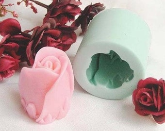 Rose 3D Flexible Silicone Mold Silicone Mould Candy Mold Chocolate Mold Soap Mold Polymer Clay Mold Resin Mold