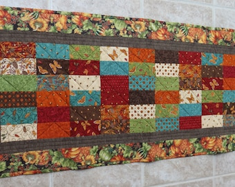 Fall Season Quilted Tablerunner - Heat Protective