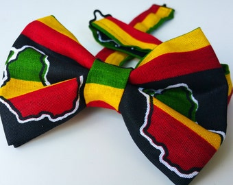 African print bow tie. neck tie. Africa bow tie.