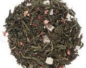 Premium Loose Leaf Green Tea - Long Island Strawberry Green Tea Blend
